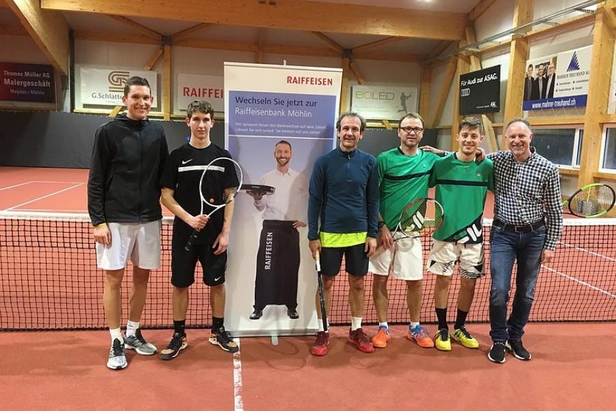 Sieger und Finalisten des 1.Raiffeisen Doppel Cup 2019.
